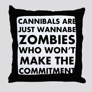Cannibals Zombies Throw Pillow