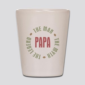 Papa Man Myth Legend French Shot Glass