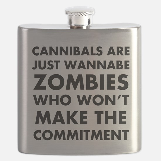 Cannibals Zombies Flask