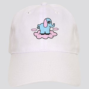 Pink Cloud Elephant Baseball Cap