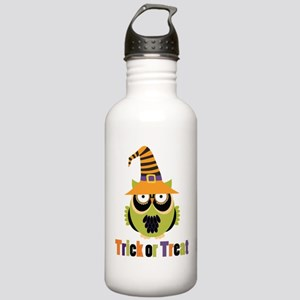 Trick or Treat Retro Owl Stainless Water Bottle 1.