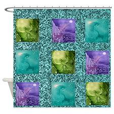 mermaids underwater Shower Curtain