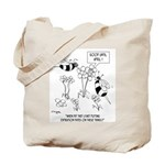 Bee Reads Expiration Date on Flowers Tote Bag