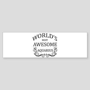 World's Most Awesome Aquarius Sticker (Bumper)