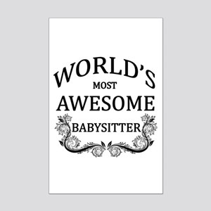 World's Most Awesome Babysitter Mini Poster Print