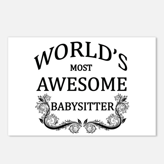 World's Most Awesome Babysitter Postcards (Package