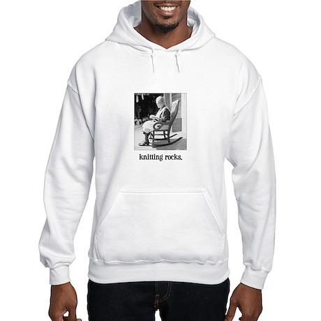 Knitting Rocks Hooded Sweatshirt