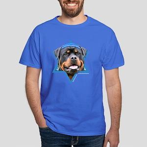 Hanukkah Star of David - Rottie Dark T-Shirt