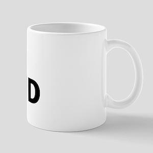DNF hound logo Mugs