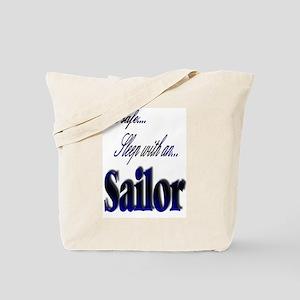 sleep with a sailor Tote Bag
