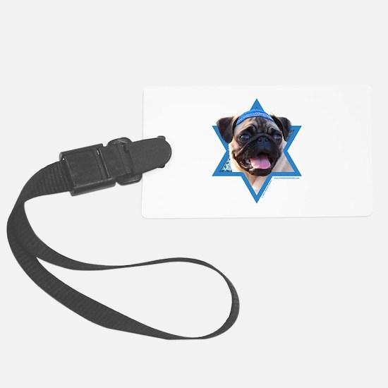 Hanukkah Star of David - Pug Luggage Tag