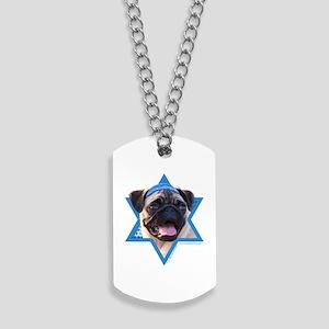 Hanukkah Star of David - Pug Dog Tags