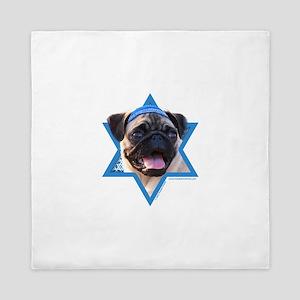 Hanukkah Star of David - Pug Queen Duvet