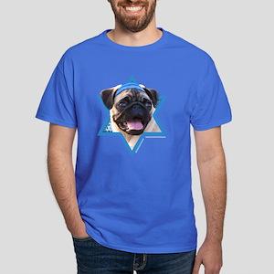 Hanukkah Star of David - Pug Dark T-Shirt