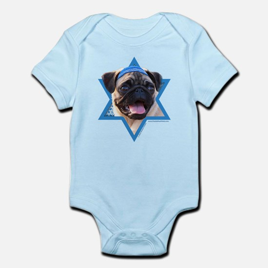 Hanukkah Star of David - Pug Infant Bodysuit