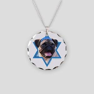 Hanukkah Star of David - Pug Necklace Circle Charm