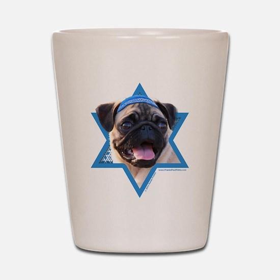 Hanukkah Star of David - Pug Shot Glass