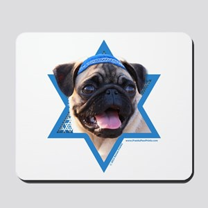 Hanukkah Star of David - Pug Mousepad