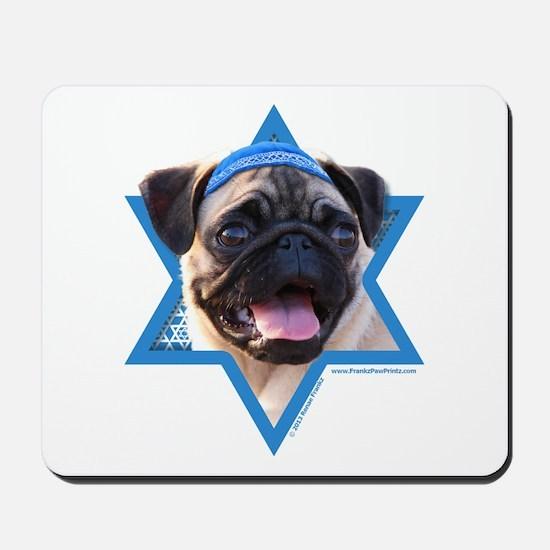 Hanukkah Star of David - Pug Mousepad