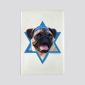 Hanukkah Star of David - Pug Rectangle Magnet