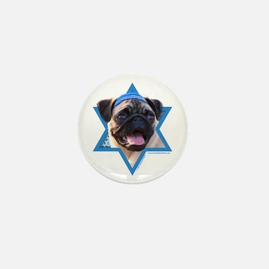 Hanukkah Star of David - Pug Mini Button