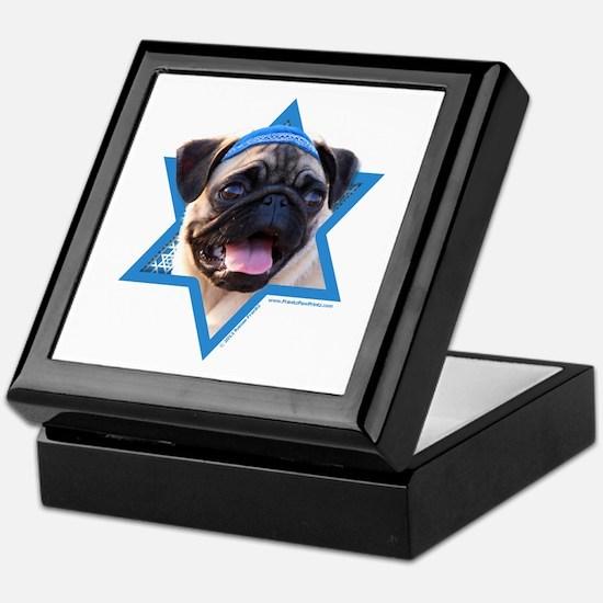 Hanukkah Star of David - Pug Keepsake Box