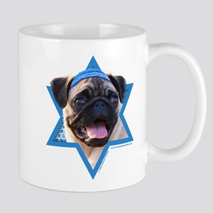 Hanukkah Star of David - Pug Mug