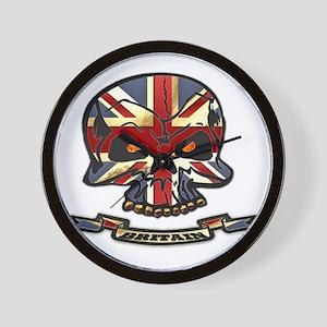 Britain Skull Wall Clock