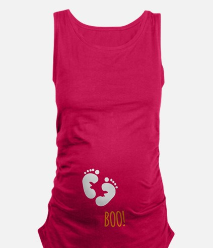 Funny Halloween Maternity Tank Top