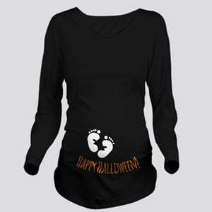 Happy Halloween Long Sleeve Maternity T-Shirt