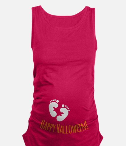 Happy Halloween Maternity Tank Top