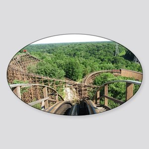Kings Island Beast Roller Coaster V Sticker (Oval)