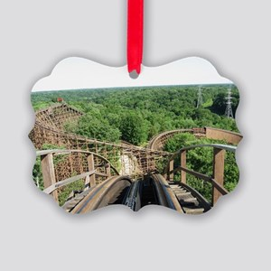 Kings Island Beast Roller Coaster Picture Ornament