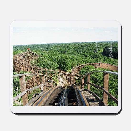 Kings Island Beast Roller Coaster View Mousepad
