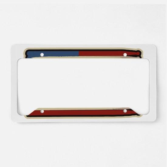 DrumsticksVintage License Plate Holder