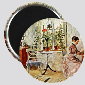 Carl Larsson: Interior with a Woman Reading Magnet