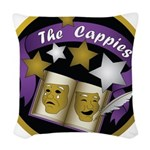 Cappies-ColorLogo.png Woven Throw Pillow