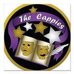 "Cappies-ColorLogo.png Square Car Magnet 3"" x 3"""