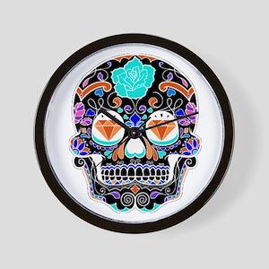 Dark Sugar Skull Wall Clock