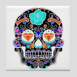Dark Sugar Skull Tile Coaster
