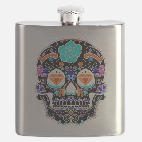 Dark Sugar Skull Flask