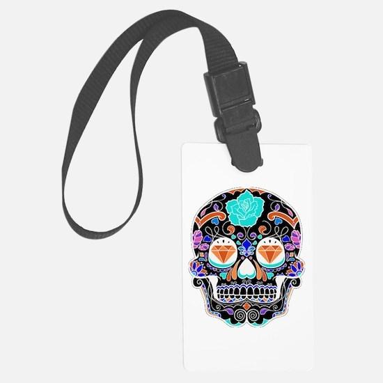 Dark Sugar Skull Luggage Tag