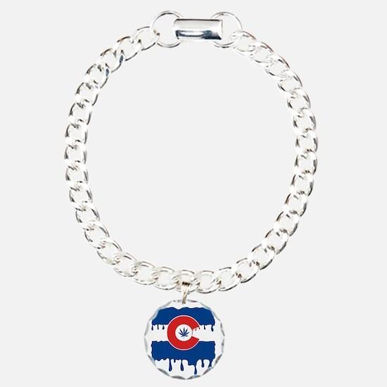 Colorado Flag oil drip Bracelet