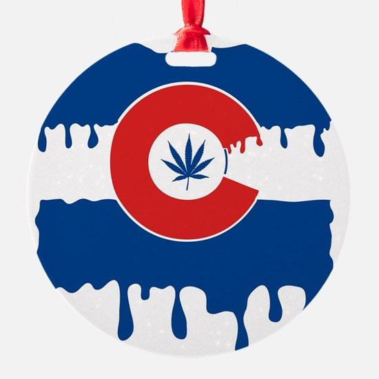 Colorado Flag oil drip Ornament