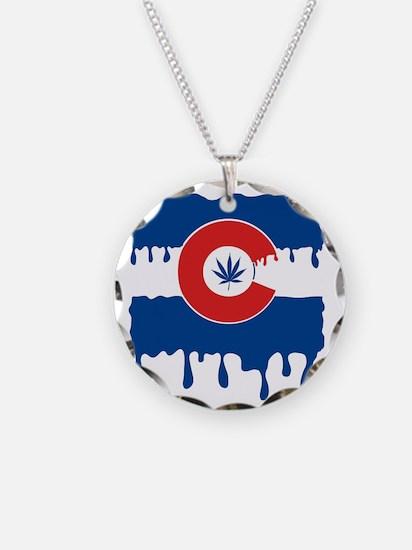 Colorado Flag oil drip Necklace