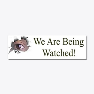 We Are Being Watched Car Magnet 10 x 3