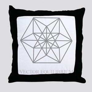 vector equilibrium Throw Pillow