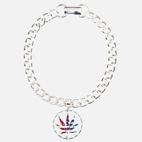 'Merica Leaf Flag Bracelet
