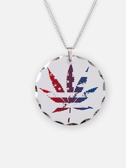 'Merica Leaf Flag Necklace