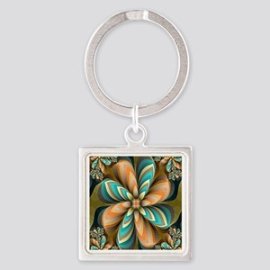 Flowers Please Square Keychain
